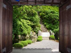 A beautiful garden in old Kyoto